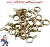 """(25) Tubing Clamp, Fits Tubing 3/8"""" I.D. x 1/2""""O.D., Double Wire, for Air System Parts"""