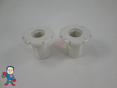"""2X Spa Hot Tub 1 1/4"""" Air Jet Face Fitting 3/4"""" Thread Injector Part"""
