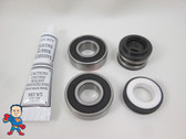 Spa Hot Tub Pump Seal & (2) Bearing Kit for 2.5HP Pump that fits May 2009+ Jacuzzi®  Premium or Sundance® Video How To