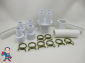 "Renu Manifold Kit Hot Tub Spa Part 1""Slip x (4) 3/4"" Ports to 3/4 or 1""HotSpring Video How To"