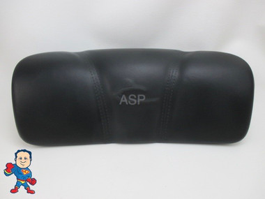 """Dynasty Spa Hot Tub Neck Pillow Black Head Rest 2009 Stitched Pin 6 1/4 """" Apart 1872"""
