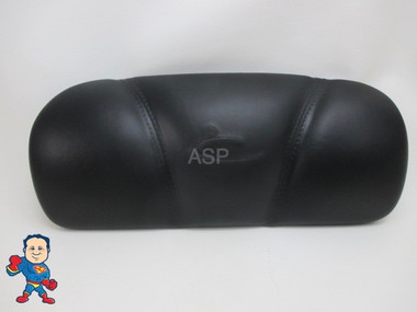 """Dynasty Spa Hot Tub Neck Pillow Black Head Rest 2009 Stitched Pin 6 3/4 """" Apart 1869 Flat Back"""