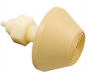 "Beige, PT1, Air Button, Tecmark, Raised Cone, 7/8"" hole size, 2-3/4"" face diameter, Tan"