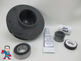 "Impeller & Seal (1) Bearing Kit Aqua-Flo XP2 4.0 HP 2 1/8"" Eye with 1/2"" Vane Width 4 1/2"" OD 230V 14Amp"