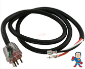 J&J Molded, Cable , Pump, 2 Speed, Molded, Clear, Lighted, 115V or 230V, 15Amp