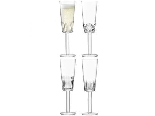 LSA Tatra Champagne Flutes 250ml (Set Of 4)