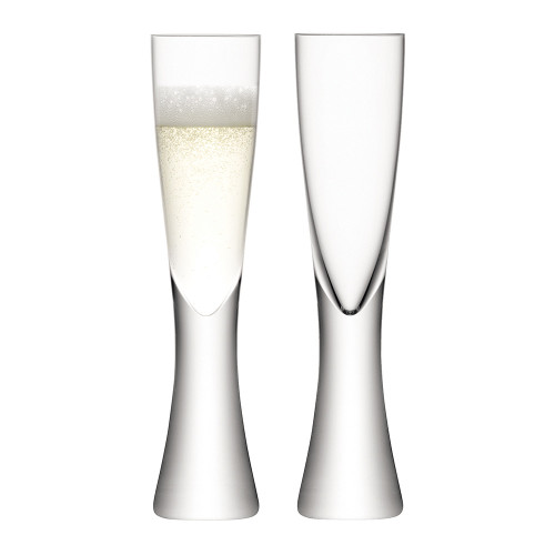 LSA Elina Champagne Flutes 200ml (Set of 2) In Gift Box