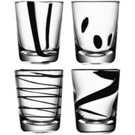 LSA Jazz Black Tumblers 250ml (Set of 4)