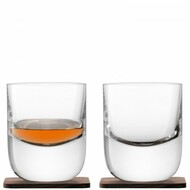 LSA Renfrew Tumbler 270ml and Walnut Coaster (Set of 2)