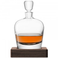 LSA Arran Whisky Decanter And Walnut Base 1L