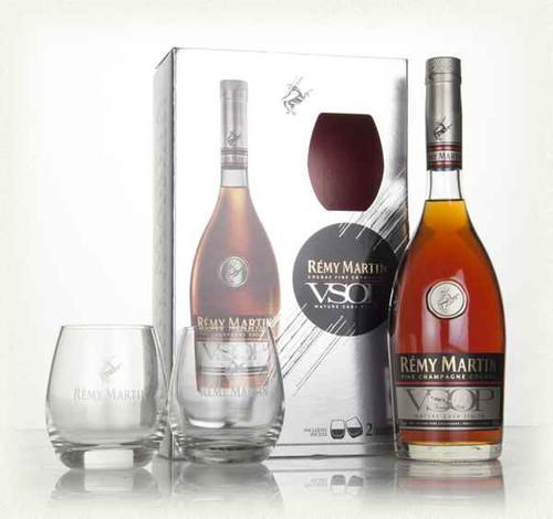 Remy Martin VSOP Mature Cask Cognac Gift Set With 2 Branded Glasses (70cl)