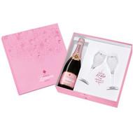 Lanson Rose Label NV In Gift Box 2 Flutes Punta Del Esta (75cl)