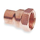 """(10) 1 1/8"""" x 1"""" OD Copper x Female Adapter CxF"""