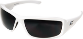 Edge Eyewear TXB246 Brazeau Designer White Safety Glasses w Polarized Smoke Lens