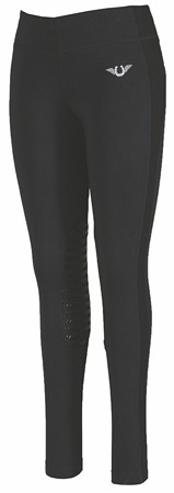 TuffRider Ladies Ventilated Schooling Tights - Black/Black