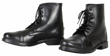 TuffRider Ladies Starter Lace Up Laced Paddock Boots - Black