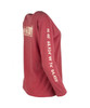 TownWear USA Long Sleeve Tee - Crimson Side