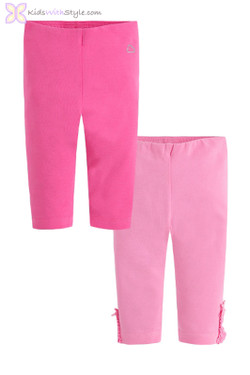 Baby Girl Set of 2 Leggings in Pink Tones