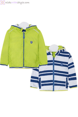 Lime Green Reversible Windbreaker for Baby Boy