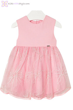 Baby Girls Chic Tulle Dress in Pink