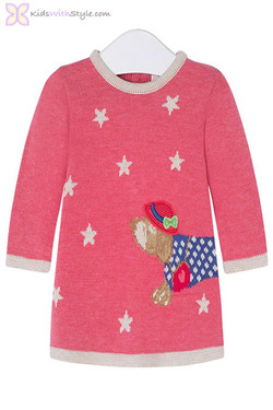 Strawberry Baby Girl Knitted Dress
