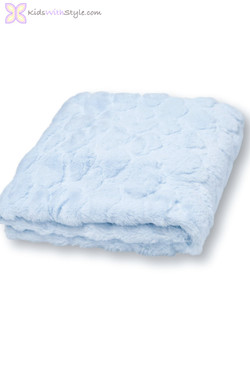 Baby Boy Blue Faux Fur Blanket