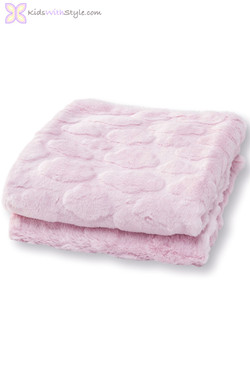 Baby Girl Pink Faux Fur Blanket