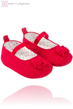 Vibrant Red Baby Jane Shoes