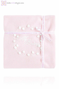 Ultra Soft Knitted Pink Baby Blanket