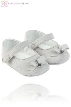 Grey Baby Mary Jane Shoes