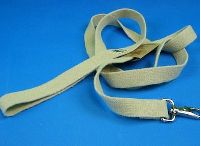 Earth Dog hemp dog leashes. Durable and washable. Natural dog leashes made in the USA. Natural oatmeal color.  No dyes
