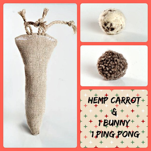 Organic holiday gift box for cats. Natural cat toys, made in the USA.  Purrfectplay.com    Organic catnip toys and organic wool balls.