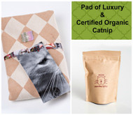 Spring/ Easter gift bag for cats.  Includes Pad of Luxury and Catnip.  100% organic and made in the USA.