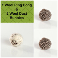 Sweet little gift for kitties.  Organic wool chase balls.  Made with love in the USA.  Purrfectplay.com