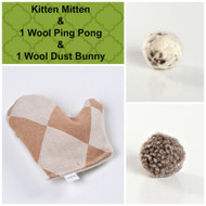 Spring gift box for cats. Natural organic cat toys, made in the USA. Purrfectplay.com Organic catnip toys and organic wool balls.
