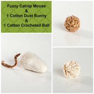 Gift box for cats.  Organic catnip cat toys.  Natural cat toys, made in the USA.  Purrfectplay.com