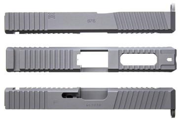 Battle Werx Ported Gripper Glock Slide Cut Front View