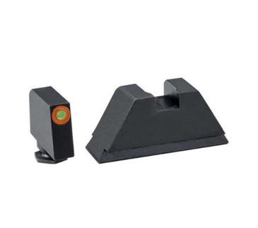 "AmeriGlo: Glock Suppressor Sight Set (.315"" Tritium-Orange Front / .394"" Black Rear) GL-511"