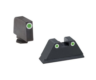 "Ameriglo: Glock Suppressor Sight Set (.315"" Tritium-White Front/.394"" Tritium-White Rear) GL-329"