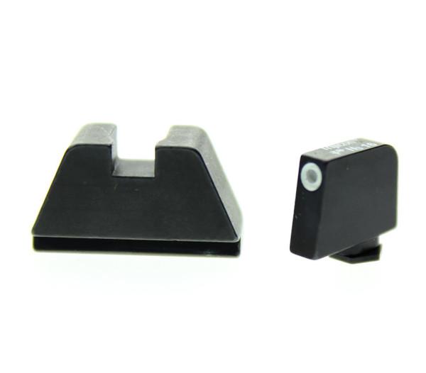 "Ameriglo: Glock MOS Suppressor Sight Set .350"" Tritium-White Front / .429"" Black Rear GL-481"