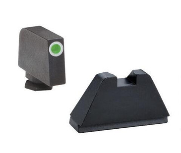 "Ameriglo: Glock Extra Tall Suppressor Sight Set (.407"" Tritium White Front / .507"" Black Rear) GL-482"