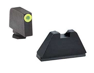 """Ameriglo: Glock Extra Tall Suppressor Sight Set (.407"""" Tritium Lumi-Green Front / .507"""" Black Rear) GL-682"""