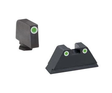"Ameriglo: Glock Suppressor Sight Set (.350"" Tritium White Front/.429"" Tritium White Rear) GL-330"