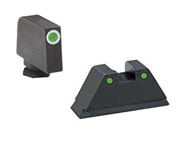 """Ameriglo: Glock Suppressor Sight Set (.350"""" Tritium White Front/.429"""" Tritium Black Rear)"""