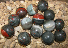 Bloodstone spheres, range from 28-32MM.