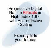 8e87d21cb28 Progressive Digital No-line Bifocals in hi-index 1.67 with lens and A R Coat