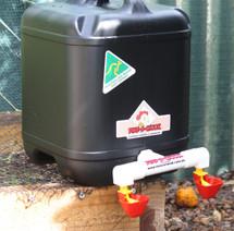Chicken Drinker | 20 Litre Double Outlet Drum Drinker | Dine a Chook
