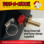 Easy installation with a standard garden hose (13 mm). We provide a commercial-grade brass inlet and a stainless-steel hose clamp with all of our Mains Pressure Lubing Tank Drinkers.