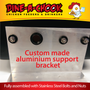Our customised aluminium support bracket means that this Mains Pressure Poultry Drinker can be installed almost anywhere! Fully assembled with stainless steel bolts and nuts. Guaranteed leak-free!