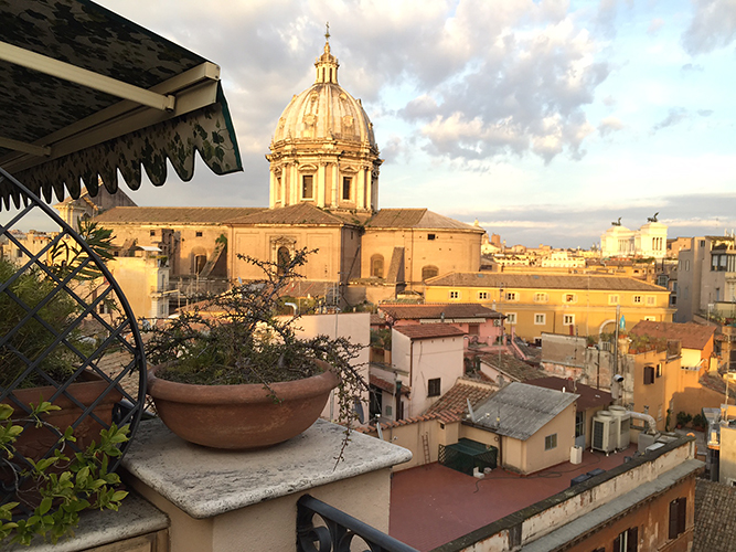A skyline view of Rome, Italy—Happy Easter from The Flower Lady, Milwaukee Florist!